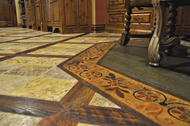Custom flooring finishes